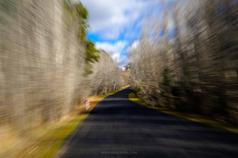 Winding roads in Tarana, NSW